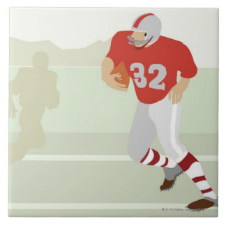 Man playing American football Tile