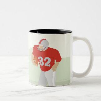Man playing American football Two-Tone Coffee Mug
