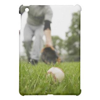 Man playing baseball iPad mini case