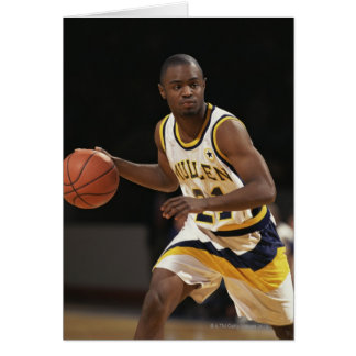 Man playing basketball 2 card