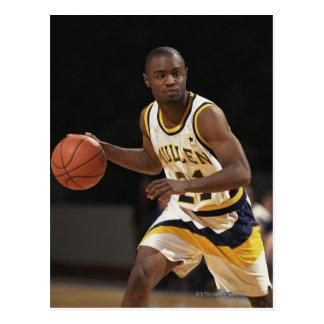 Man playing basketball 2 postcards