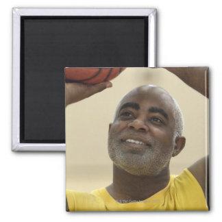 Man playing basketball 4 magnet