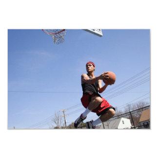 Man Playing Basketball 9 Cm X 13 Cm Invitation Card