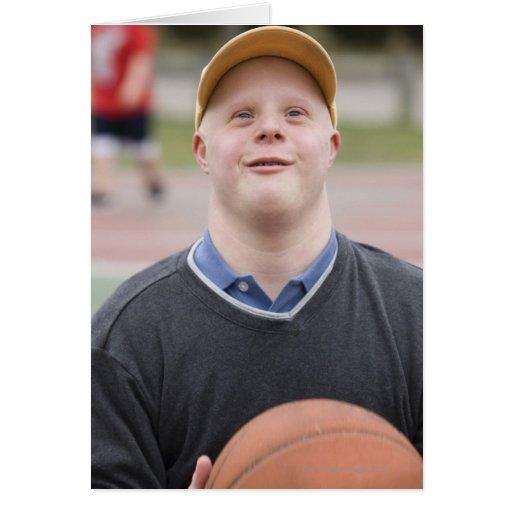 Man playing basketball greeting cards