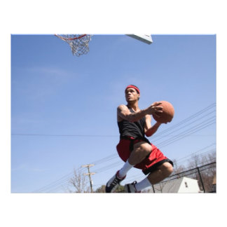 Man Playing Basketball Custom Flyer