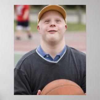 Man playing basketball poster