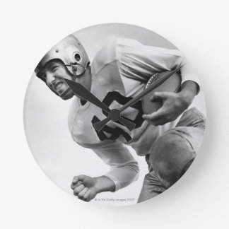 Man Playing Football 3 Round Clock