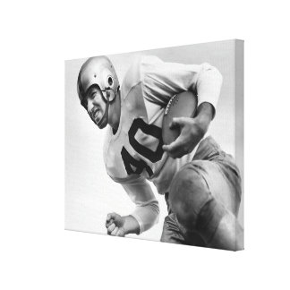 Man Playing Football Canvas Print
