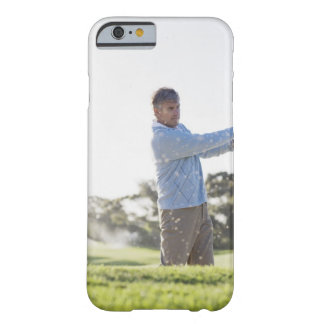 Man playing golf in sand trap barely there iPhone 6 case