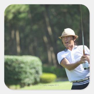 Man playing golf, Miyazaki Prefecture, Kyushu, Stickers