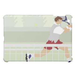 Man playing tennis 2 iPad mini case
