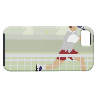 Man playing tennis 2 iPhone 5 covers