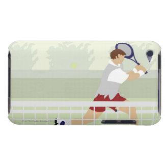 Man playing tennis 2 iPod Case-Mate case