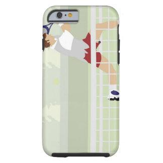 Man playing tennis 2 tough iPhone 6 case