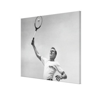 Man playing tennis canvas prints