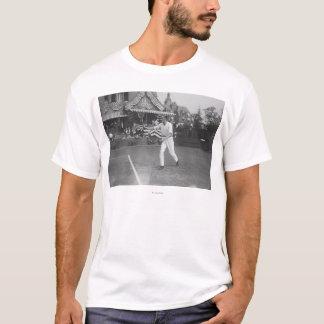 Man Playing Tennis in Washington DC Tournament T-Shirt
