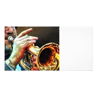 Man Playing Trumpet Personalized Photo Card