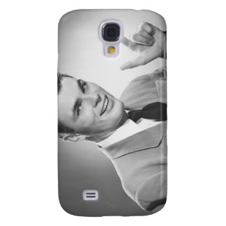 Man Pointing 2 Galaxy S4 Case