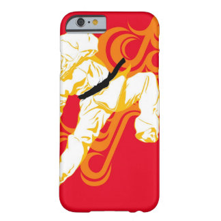 Man practicing martial arts, performing mid air barely there iPhone 6 case