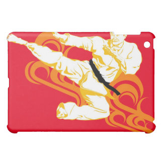 Man practicing martial arts, performing mid air cover for the iPad mini