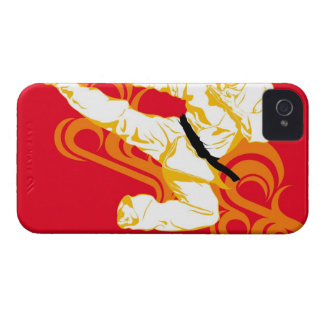 Man practicing martial arts, performing mid air iPhone 4 cover
