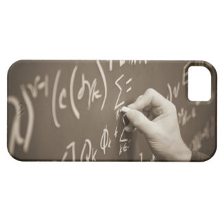 Man printing math equations on a chalkboard barely there iPhone 5 case