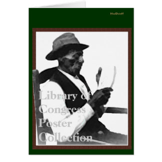 Man Reading a Story Greeting Card