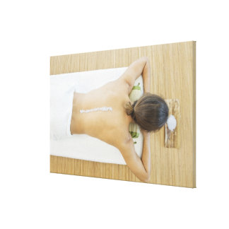 Man receiving spa treatment canvas print