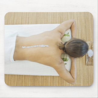 Man receiving spa treatment mouse mat