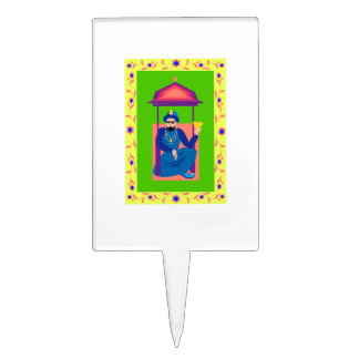 man resting under roof with chalice png cake pick