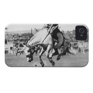Man riding bucking horse in rodeo iPhone 4 covers