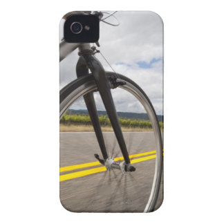 Man road biking at high speed POV iPhone 4 Covers