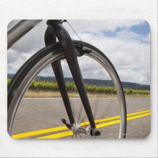 Man road biking at high speed POV Mouse Mat