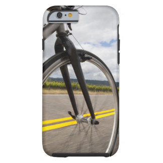 Man road biking at high speed POV Tough iPhone 6 Case