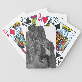 Man Rock Climbing Bicycle Playing Cards