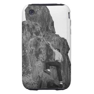 Man Rock Climbing Tough iPhone 3 Cover