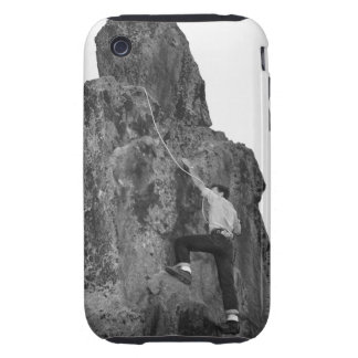 Man Rock Climbing iPhone 3 Tough Cover