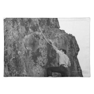 Man Rock Climbing Placemat