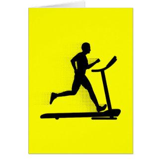 Man Running on a Treadmill Card
