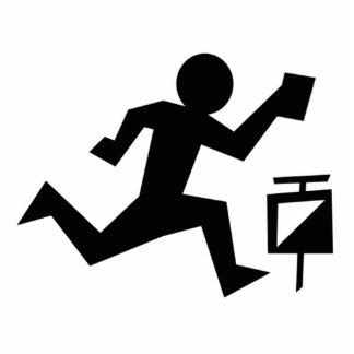 Man Running Standing Photo Sculpture