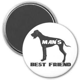 Man's Best Friend fun dog silhouette 7.5 Cm Round Magnet
