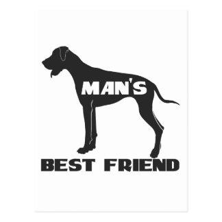 Man's Best Friend fun dog silhouette Post Cards
