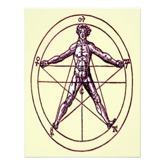 Man s Magical Pentagram Symbol Custom Invites
