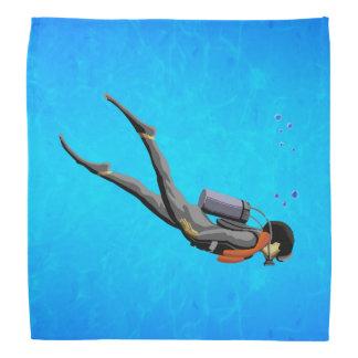 Man SCUBA Diving Bandanas