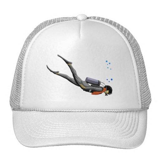 Man SCUBA Diving Hat