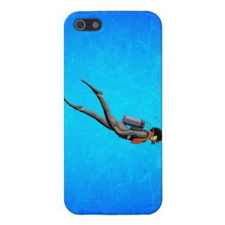Man SCUBA Diving iPhone 5 Case
