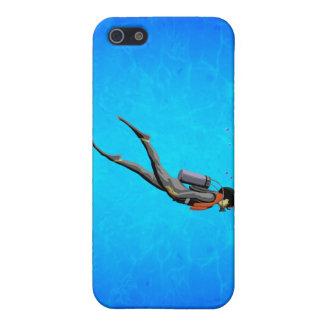Man SCUBA Diving iPhone 5 Covers