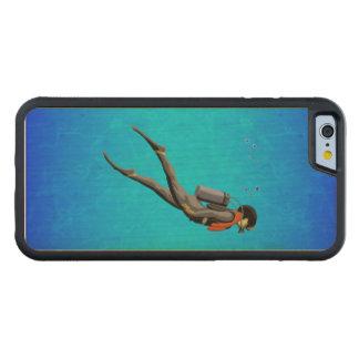 Man SCUBA Diving Maple iPhone 6 Bumper