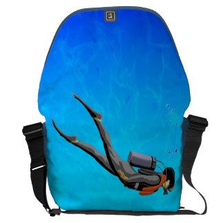Man SCUBA Diving Courier Bags