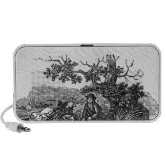 Man Seated by a Stunted Tree iPhone Speakers